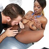 Ebony pornstar Jezabel Vessir has huge natural although a little flagging breast