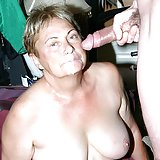 Cock starved granny Ginger Spice taking a big one in her mouth and cramming it into her throat