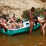 The hot college slut fucking in the boat. Julia Taylor, Eniko, Bella, Agnes