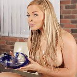 Wet panty play for piss loving blonde Jenna Lovely