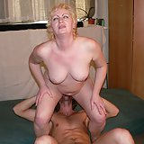 Horny blonde mature housewife sucking and fucking