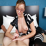 Sexy babe dressed as referree gave a halftime handjob to a monster sized cock. Pristine Edge