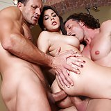Gorgeous girl gets a DP. Valentina Nappi