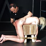 Blonde slave Arteya has no idea about what is going to get hurt, all she knows is that her Master will punish her cause she broken the rules.  But in a world where passion is pain, nothing is ever that simple, she will be the main character in the erotic and kinky bdsm treatment. Her hands and legs rope tied up she feels humiliate and worthless, she is nothing but a toy and she will be used only for sexual pleasure. Her tight pussy is rough stimulated and her sexy ass fingered, she is forced to give her master a deepthroat blowjob and she feels pleasure and pain ... Arteya gets hard fuck and asks for more in extreme bdsm game!