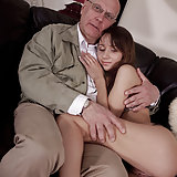 The beauty is masturbating with a bit help of movies with old and ugly man. He thinks that he is not old, but ugly he is. She loves to have sex with this Old and ugly bastard.  She is a very lovely mini girl...