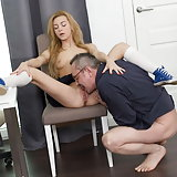 Hot blonde babe fucks her teacher after class. Sonia Sweet