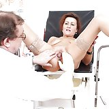 Mature Amelie at kinky gyno clinic