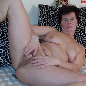 granny spreads her ass