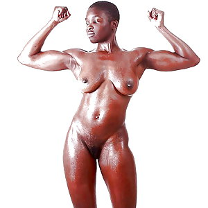 Muscle ebony nude