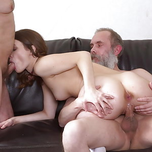 Two old men talk babe into throwing an orgy.Sofy Torr