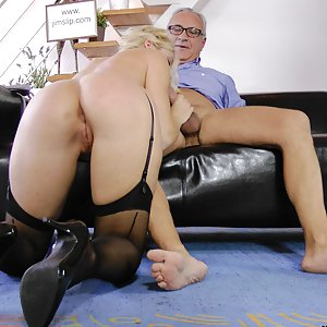 Kat is a really horny blonde girl and Jim knows what to do