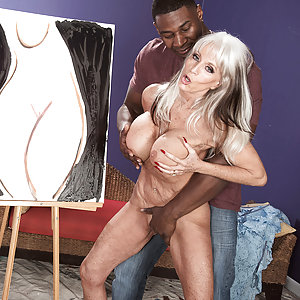 Sally D'Angelo takes on Jax Black's big cock
