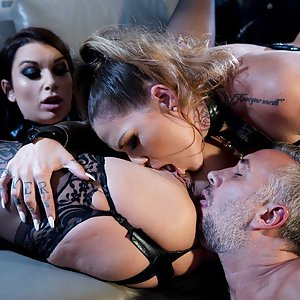 Bisexula Ivy Lebelle and  Karmen Karma with Keiran Lee threesome