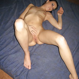 Skinny amateur naked at home