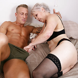 Horny British housewife getting wet and wild with her toy boy