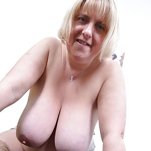 Big breasted British BBW playing with herself