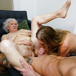 Threesome with old and older