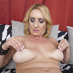 horny housewife playing with herself