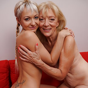 Hot and steamy old and young lesbians going all the way