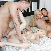 Dudes are having great banging with their cool blonde GFs