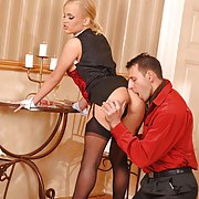 Blond babe Britney serves up all anal sex to lucky members