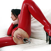 I spread my legs as far as they will go while a speculum keeps my asshole gaping.