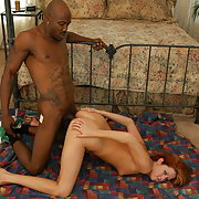 Hot live interracial with Tricia Rae slurping a big dick and taking it in her cunt